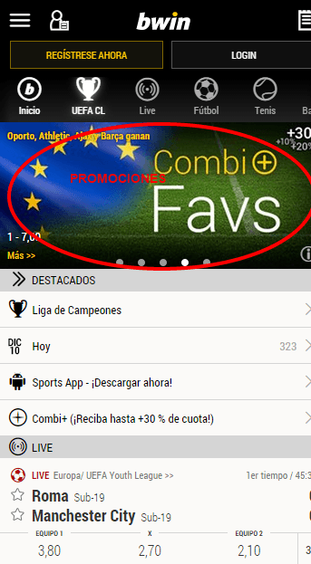 bwin version movil android 1