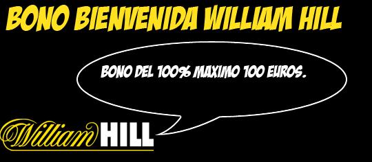 bono de bienvenida de william hill