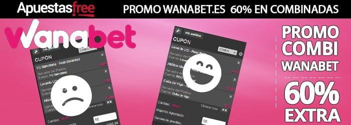 Ejemplo de una Combi Plus en promoción con Wanabet.es