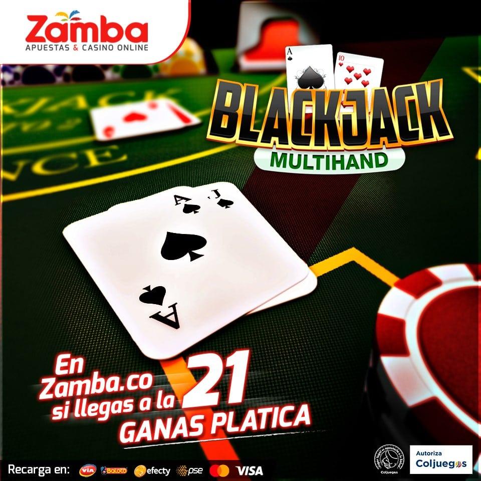 Blackjack en Zamba Colombia