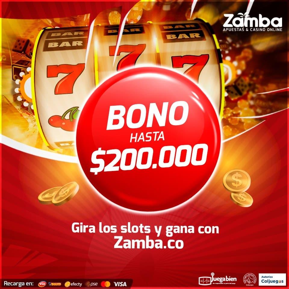 Sistema de bonos del casino de Zamba para Colombia