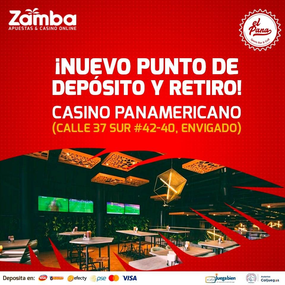 Retiros punto físico Zamba Colombia