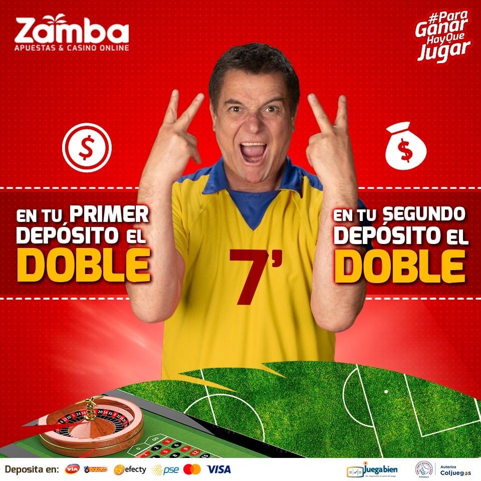 Bono de bienvenida de Zamba Colombia