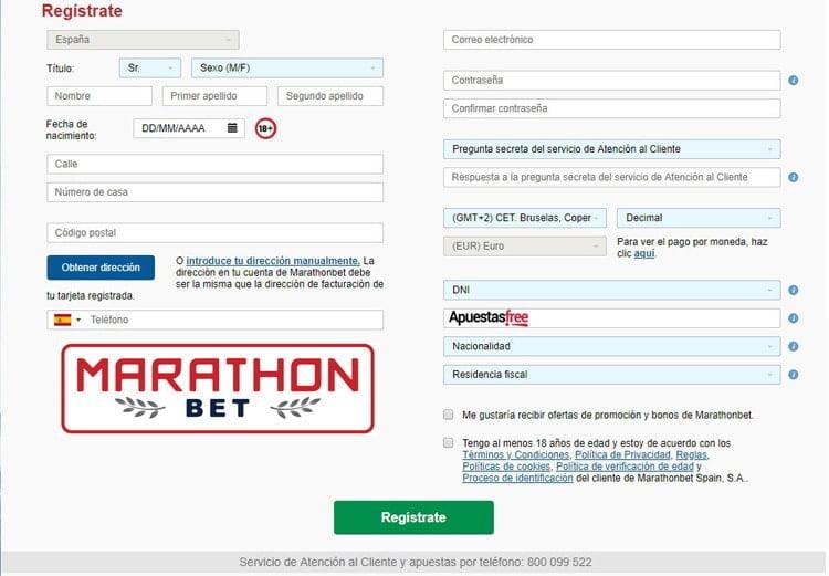 código promocional de Marathonbet