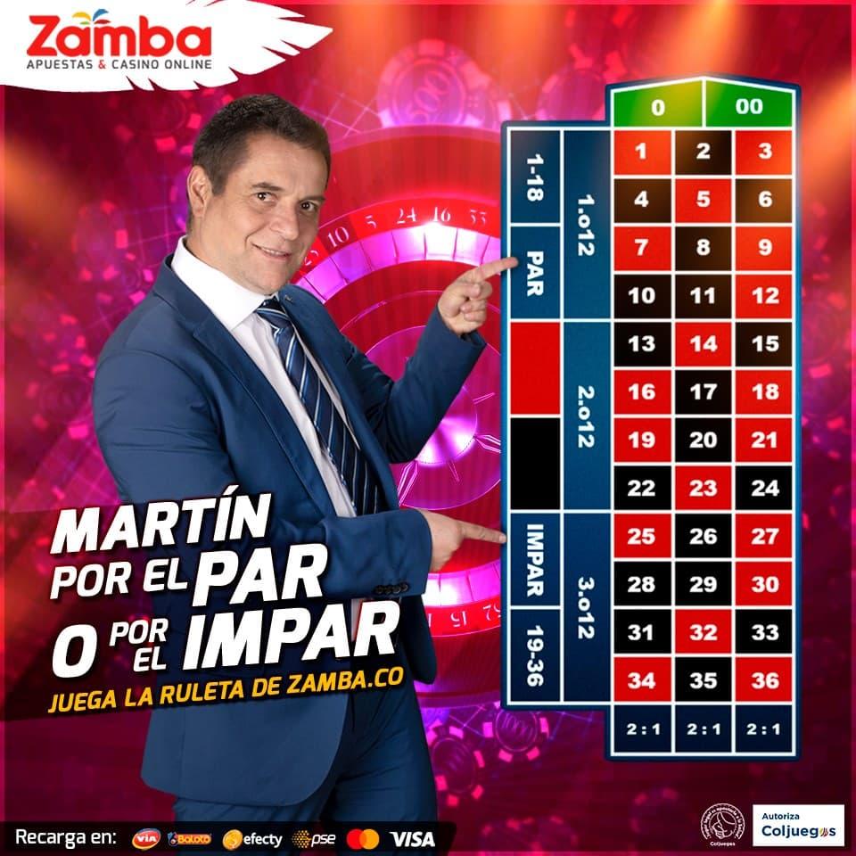 Fórmulas ganadoras en la ruleta Zamba para Colombia