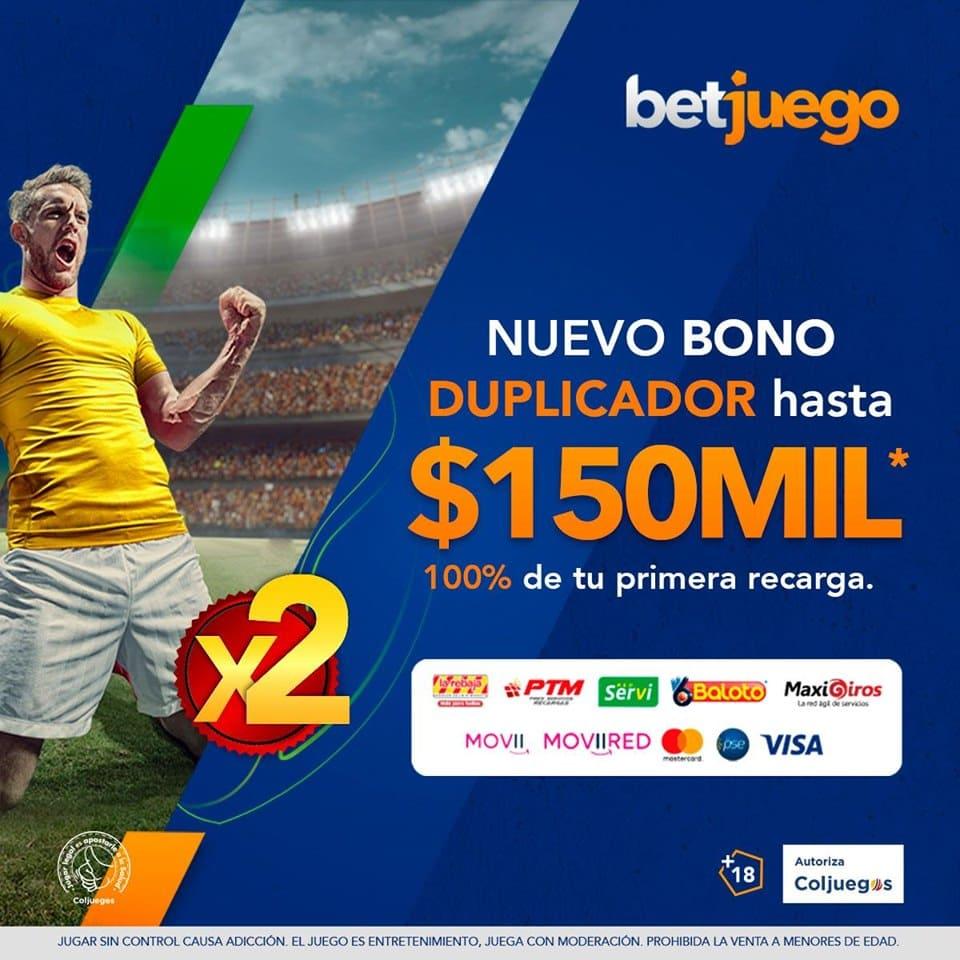Promo Bono de bienvenida de Betjuego Colombia