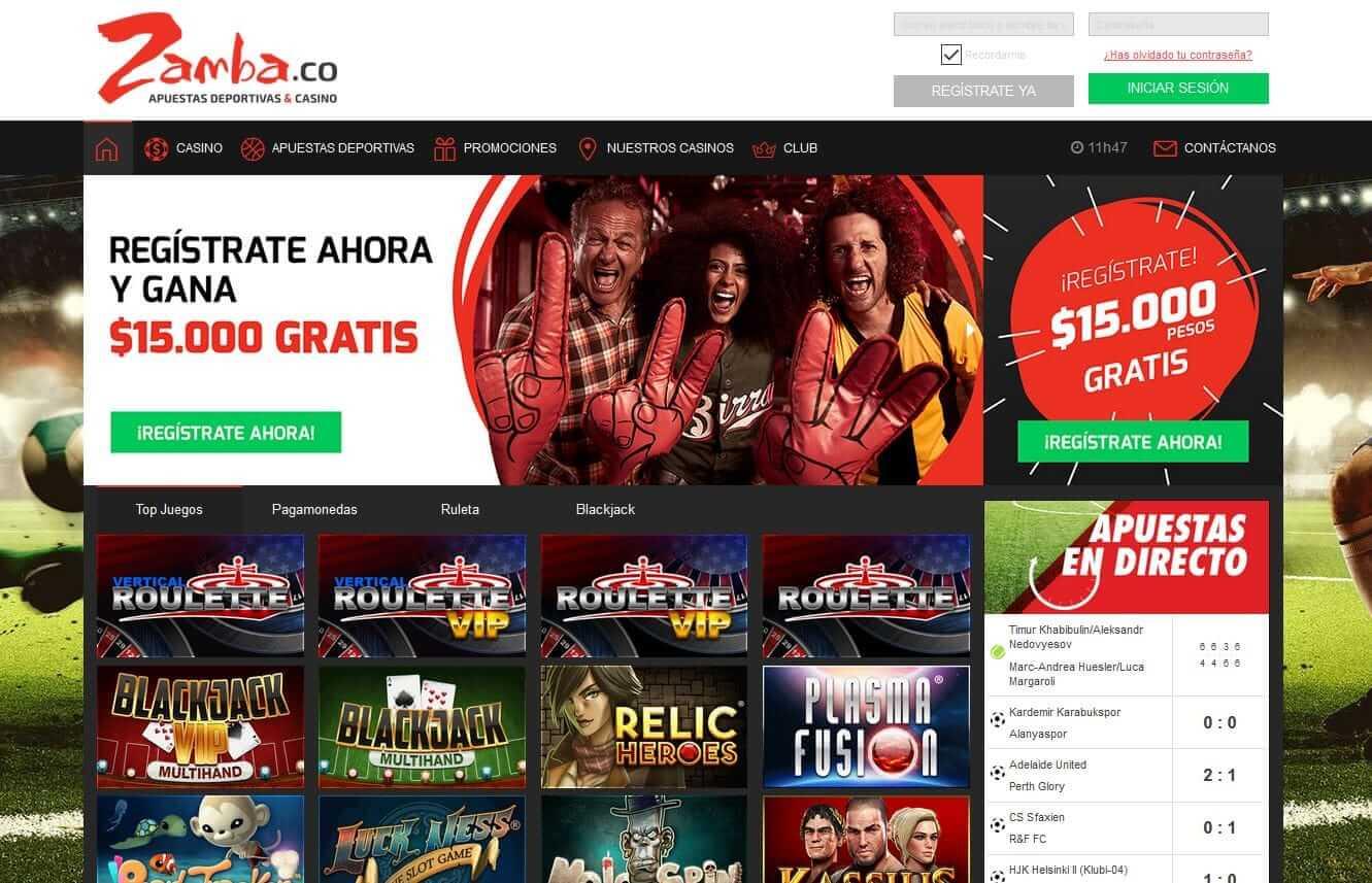 Opciones de ruleta en Colombia para Zamba