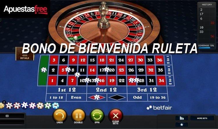 bono ruleta betfair