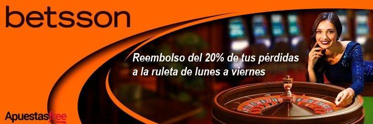 bono cashback ruletas betsson casino