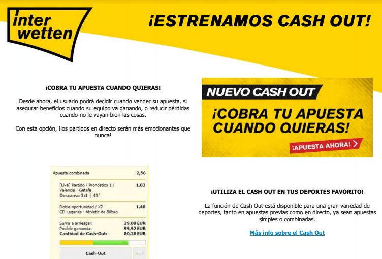 Interwetten Cash Out