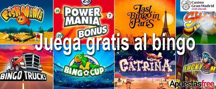 bono sin depósito bingo casino gran madrid