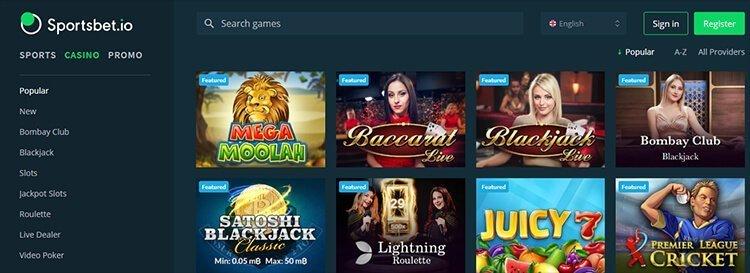 Sportsbet-Casino-Homepage