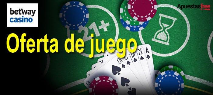 Oferta de juego de Betway México