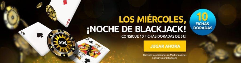 merkurmagic fichas doradas blackjack