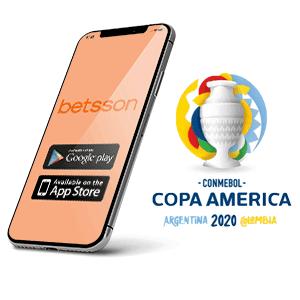 Descargar la app para Android de Betsson para la copa America