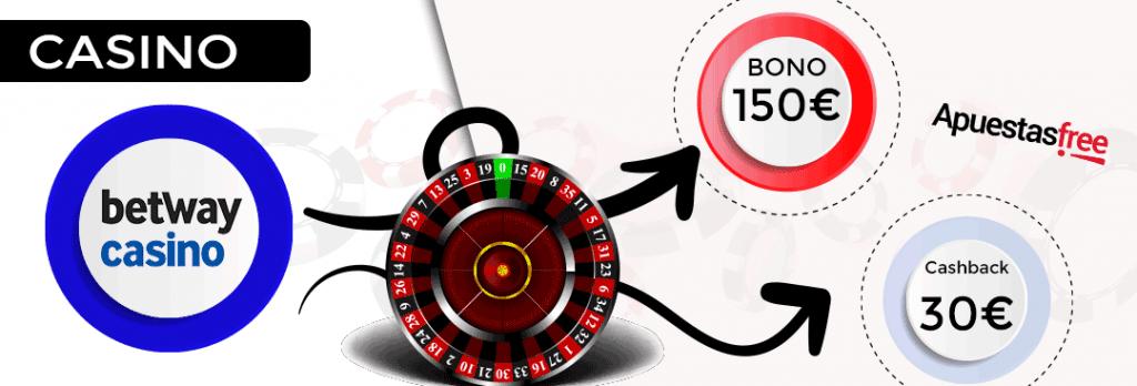 el bono ruleta de betway casino con 150 euros de bono de bienvenida y hasta 30 euros en cashback