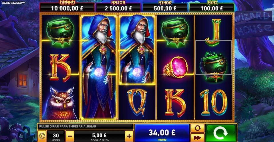 jugar a la slot blue wizard