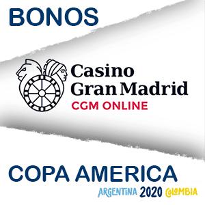 Gran casino Madrid online bono extra copa america 2020