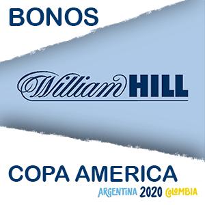 El bono de William hill para la copa america del 2020