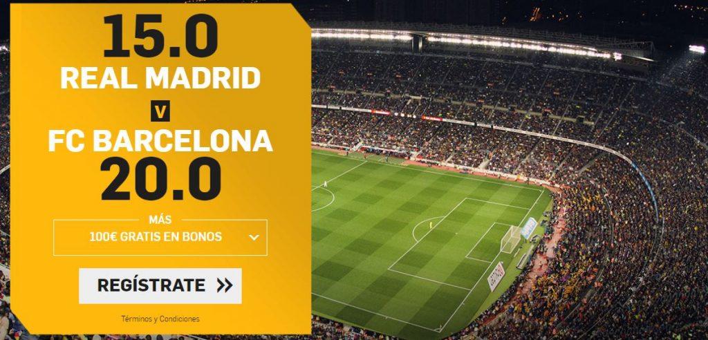 supercuota real madrid - barcelona betfair