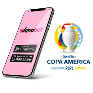 Descargar app y apk de Wanabet para copa américa 2020