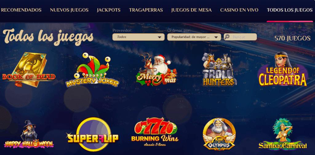 Vegasplus juegos