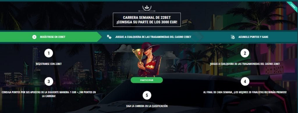 22bet casino venezuela