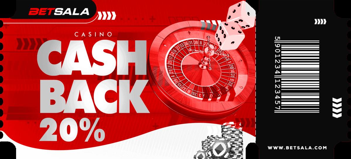 betsala y su bono de cashback en casino