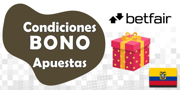 condiciones del bono y codigo promocional de betfair para ecuador