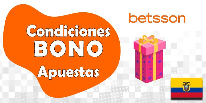 condiciones del bono y codigo promocional de betsson para ecuador