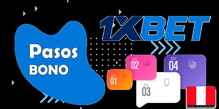 pasos para conseguir el bono 1xbet con codigo promocional en Peru