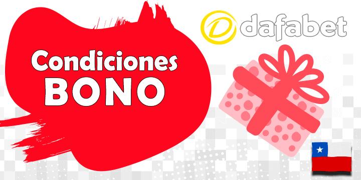 condiciones bono dafabet apuestas y casino para mercado chileno
