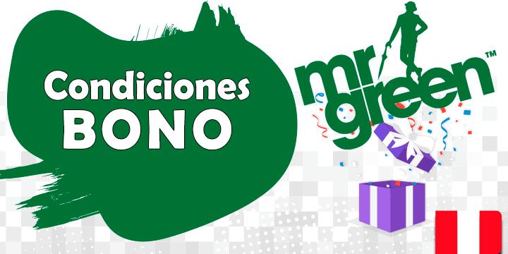 condiciones del bono de mrgreen en Peru