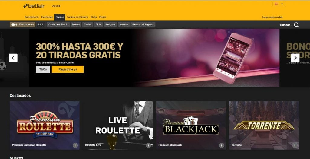 betfair promo casino