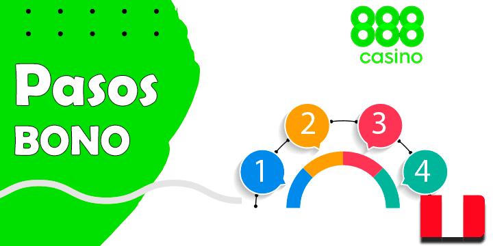 Los pasos para conseguir el bono y de 888casino