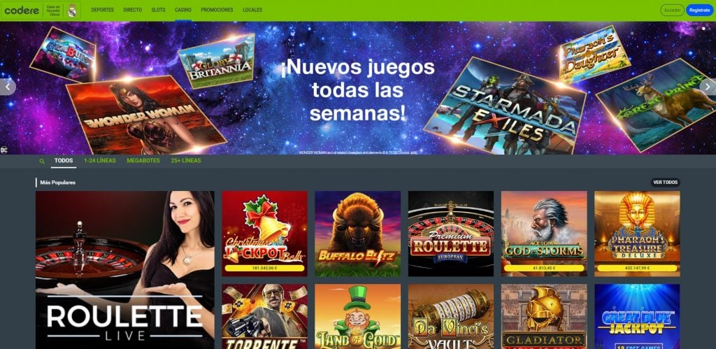 codere casino torneo