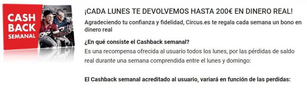 cashback circus