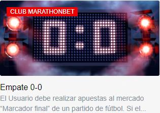 promoción 0-0 marathonbet