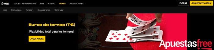 Cómo jugar un torneo de póker en Bwin