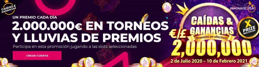 lluvia premios casino gran madrid