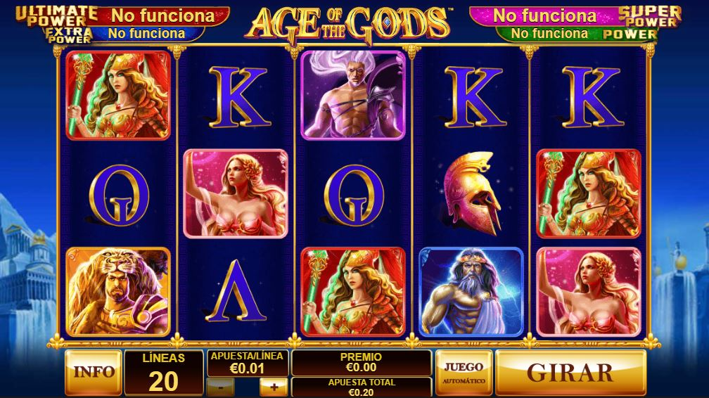 age of the gods slots gratis codere