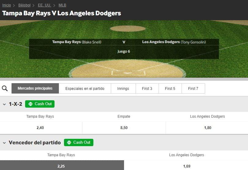 Apuestas beisbol betway