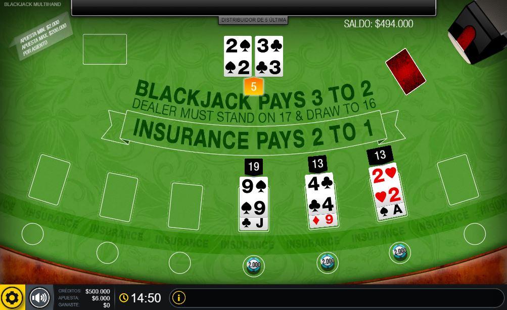 blackjack multihand gratis