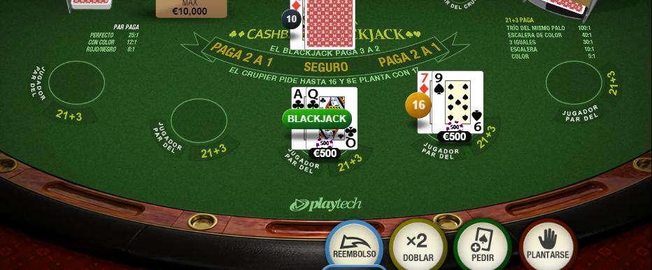 cashback blackjack Codere