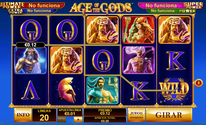 slot age of the gods Codere