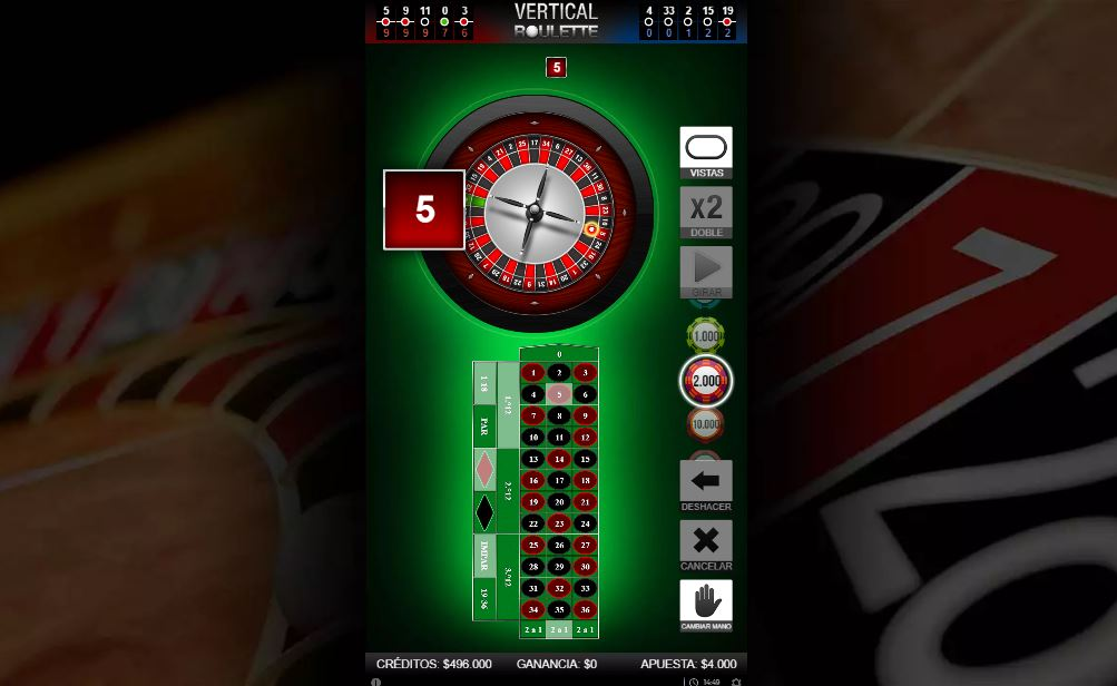 vertical roulette codere colombia