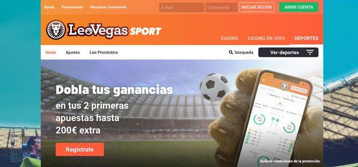 Cómo apostar al fútbol con LeoVegas y conseguir hasta 200€