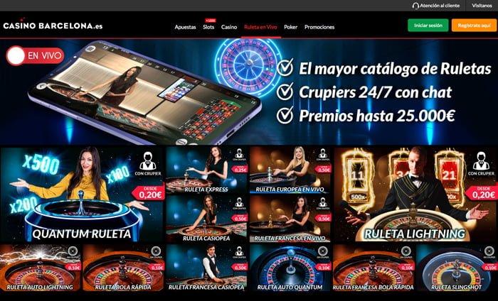 Análisis Ruleta en Vivo del Casino Barcelona: Superdías de ruleta te compensa hasta 500€
