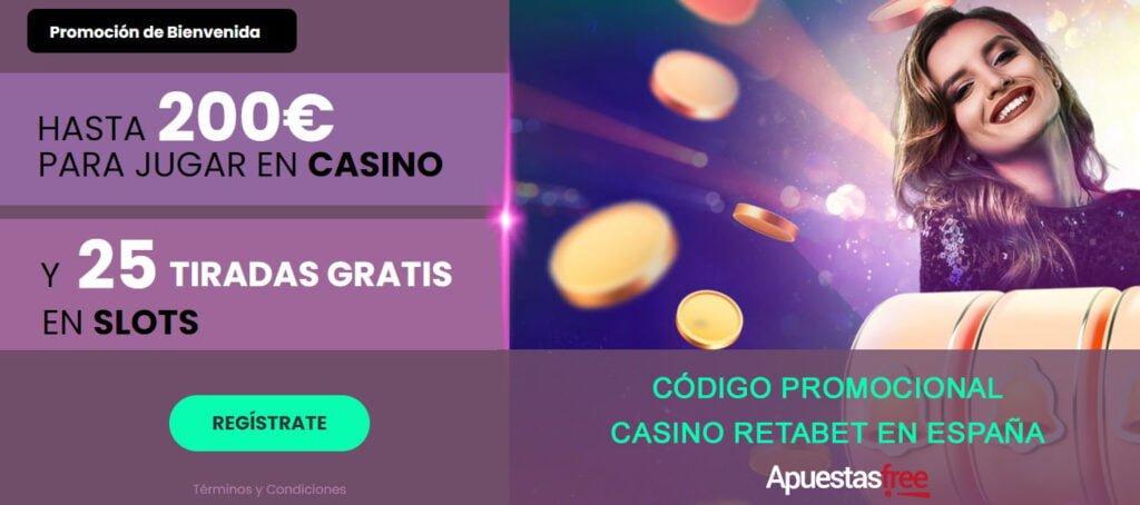código en promoción de casino de retabet