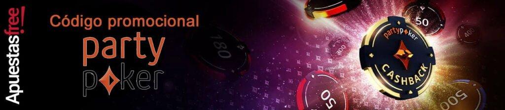 código en promoción de poker de partypoker